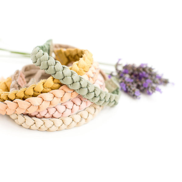 Pastels Colors Braided Headband// Pick Your Color