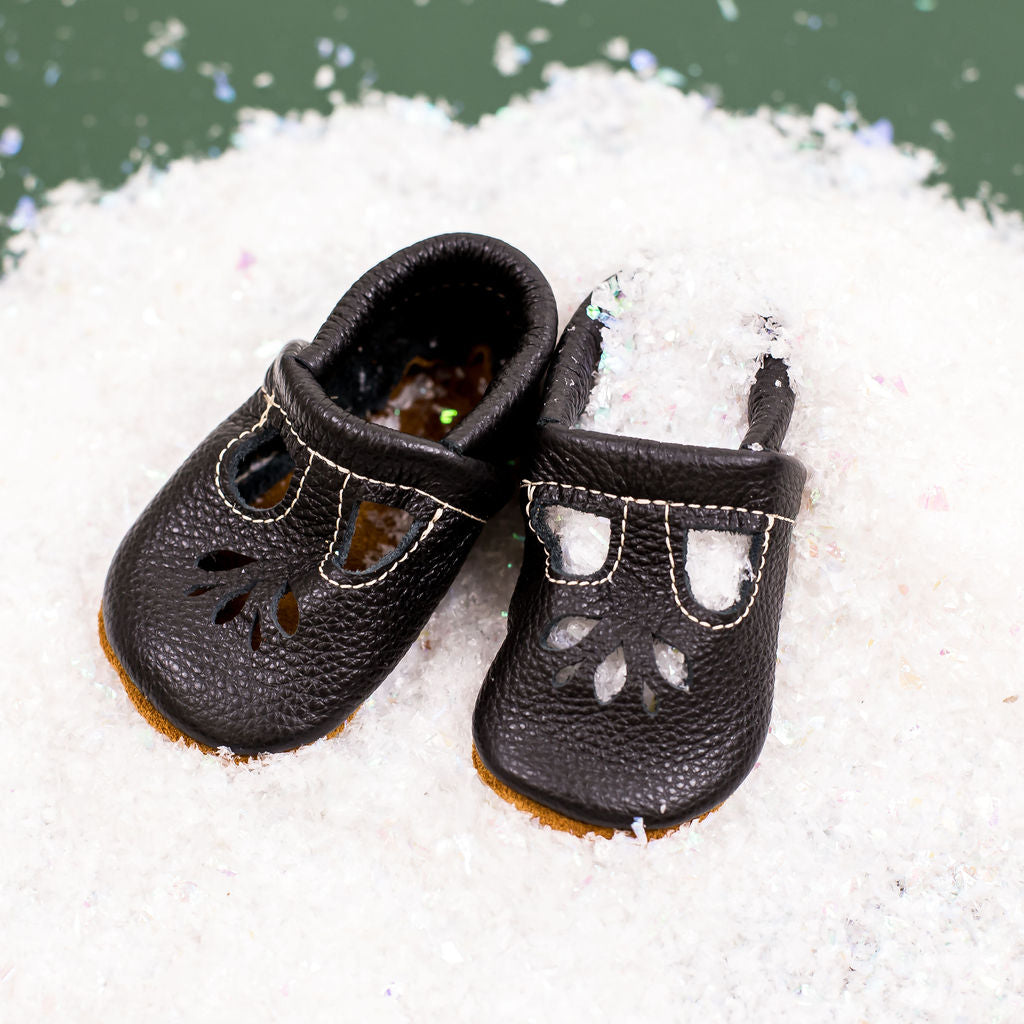 Black LOTUS T-Strap Shoes Baby and Toddler