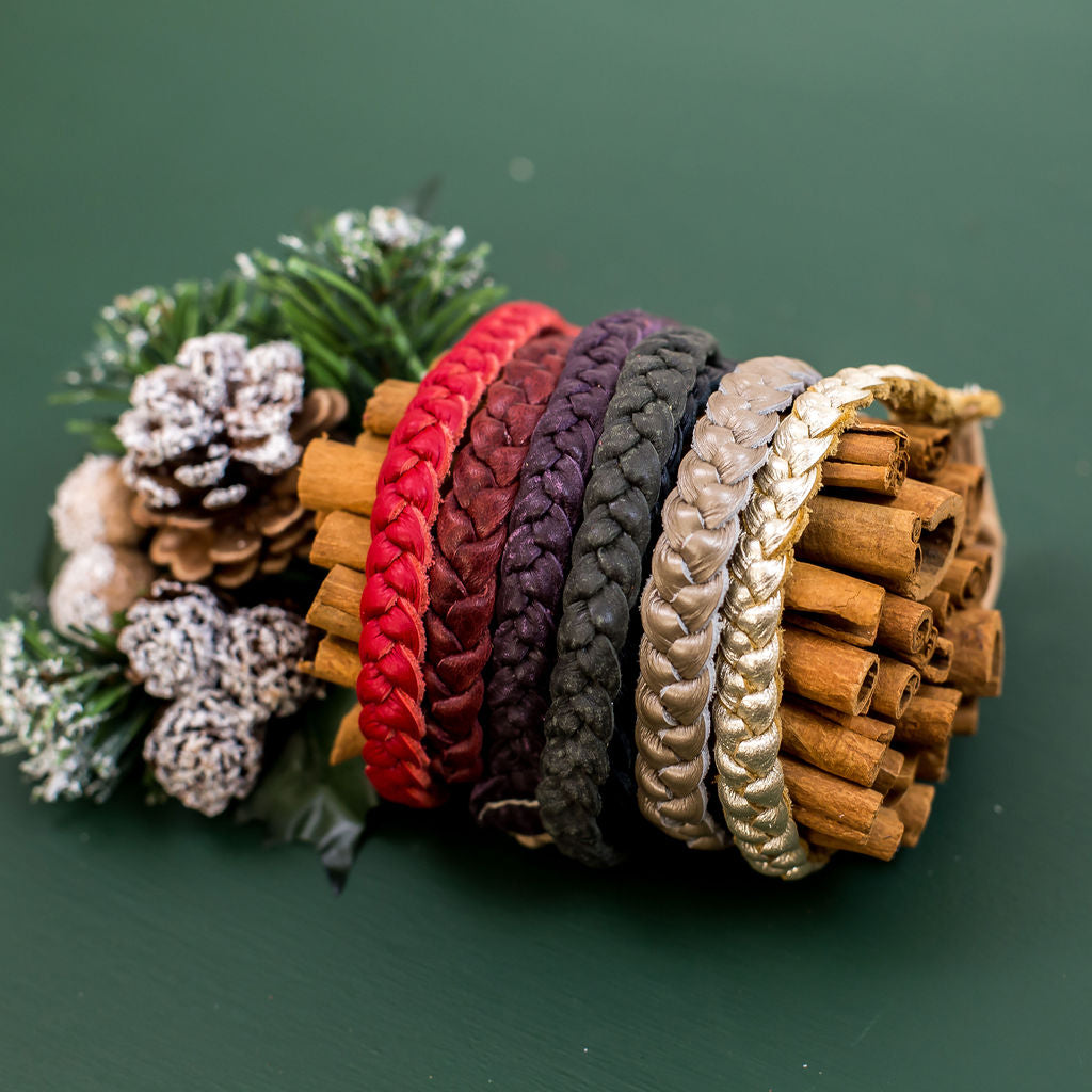 Holiday Colors Braided Headband// Pick Your Color