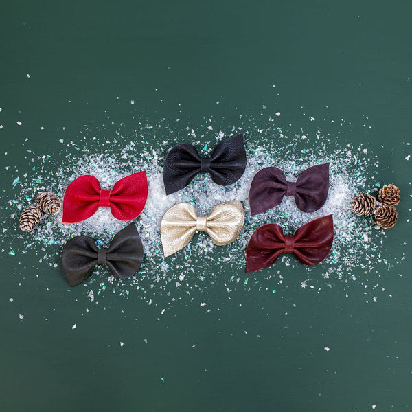 Holiday 2020 Fan Bow Clip// Pick Your Color