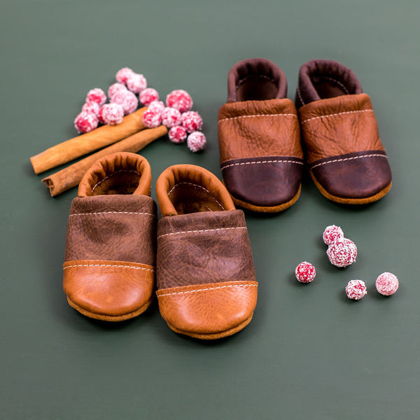 Two Tone Loafer Baby and Toddler Shoes( Maple/Carob, Hickory/Coffee)