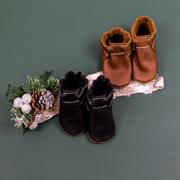 Obsidian, Coffee SCOUT BOOTIES Baby and Toddler