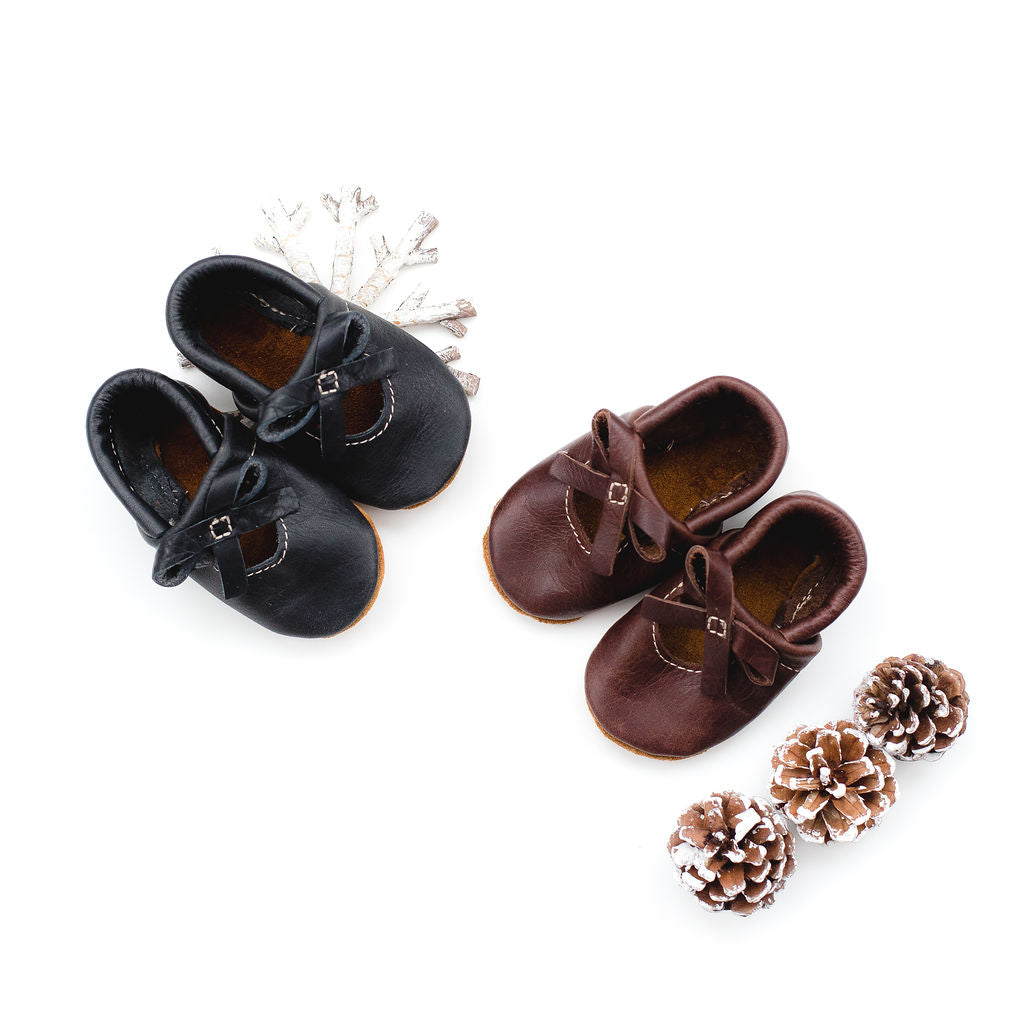 Obsidian & Hickory BALLET BOW FLATS Baby and Toddler