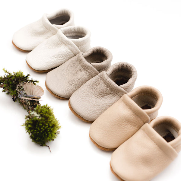Spring Neutrals Leather Loafers Shoes Baby and Toddler