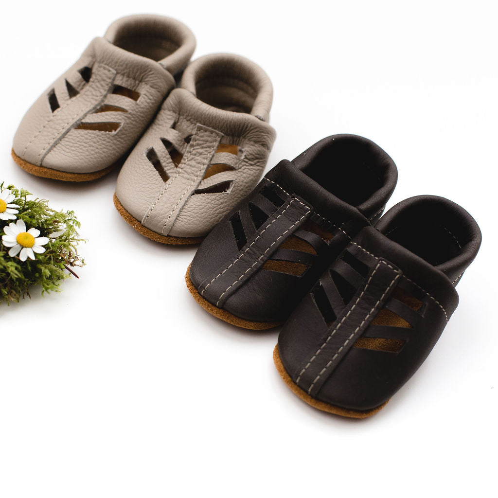 Beige & Iron SEQUOIA Shoes Baby and Toddler