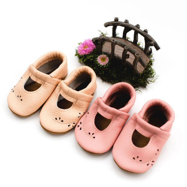 Carnation  & Peach Ivy Janes Shoes Baby and Toddler