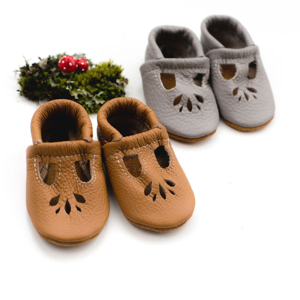 Camel & Smoky LOTUS T-strap Shoes Baby and Toddler
