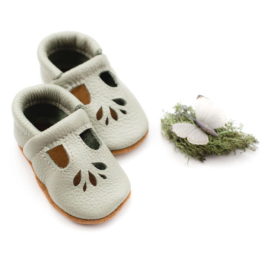 Tea green LOTUS T-strap Shoes Baby and Toddler
