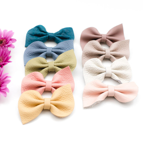 Pastel Spring Colors Fan Bow Clip// Pick Your Color