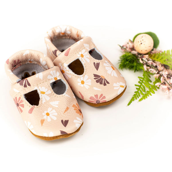 Happy Daisy Plain T-strap Shoes Baby and Toddler