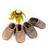 Agate, Slate Leather Moccs Shoes Baby and Toddler