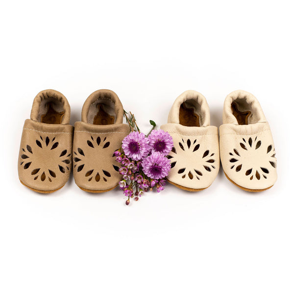 Sand dollar & Coconut DAHLIA Shoes Baby and Toddler