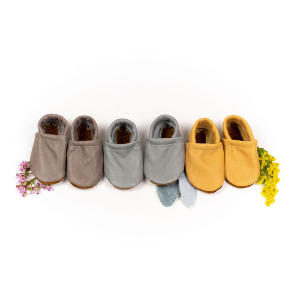 Slate, Turtle, Mango Leather Loafers Shoes Baby and Toddler