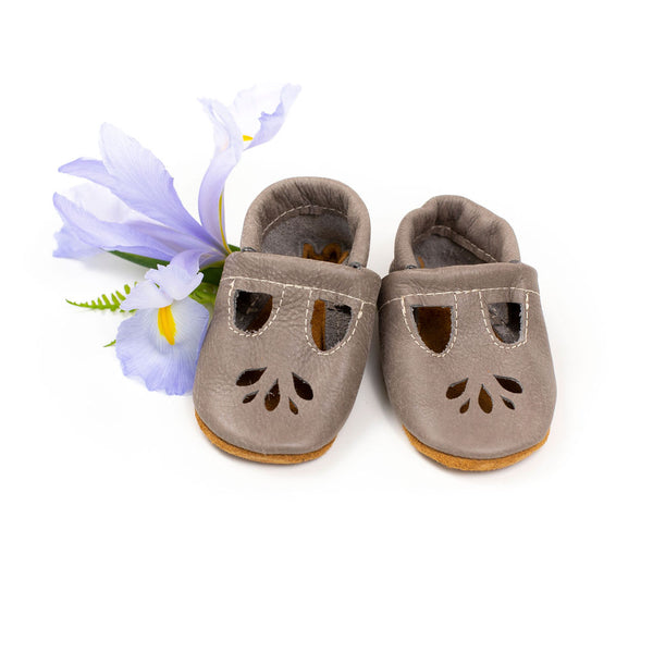 Slate LOTUS T-strap Shoes Baby and Toddler