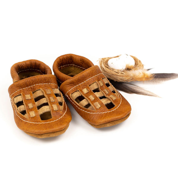 Pecan WOVEN Shoes Baby and Toddler