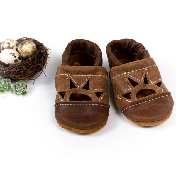 Rust/ W. Wood Two Tone SUNSET Shoes Baby and Toddler