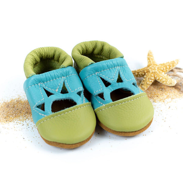 Key Lime/Aqua Two Tone SUNSET Shoes Baby and Toddler