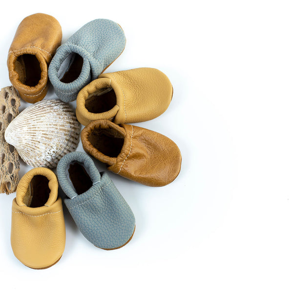 Wheat, Caramel, Blue Heron Loafers Shoes Baby and Toddler