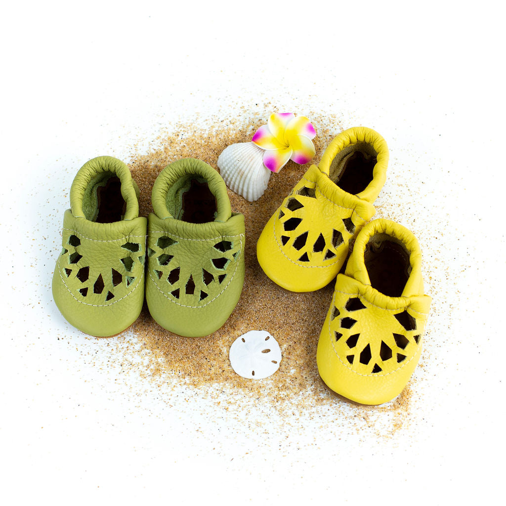 Key lime & PIneapple CITRUS Shoes Baby and Toddler