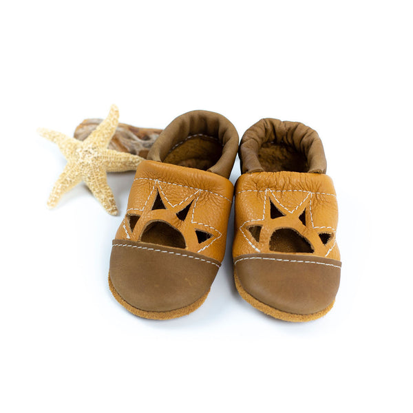 Oak/Honey Two Tone SUNSET Shoes Baby and Toddler