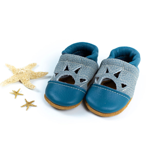 Surf/Blue Heron Two Tone SUNSET Shoes Baby and Toddler