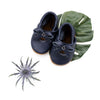 Navy BALLET BOW FLATS Baby and Toddler