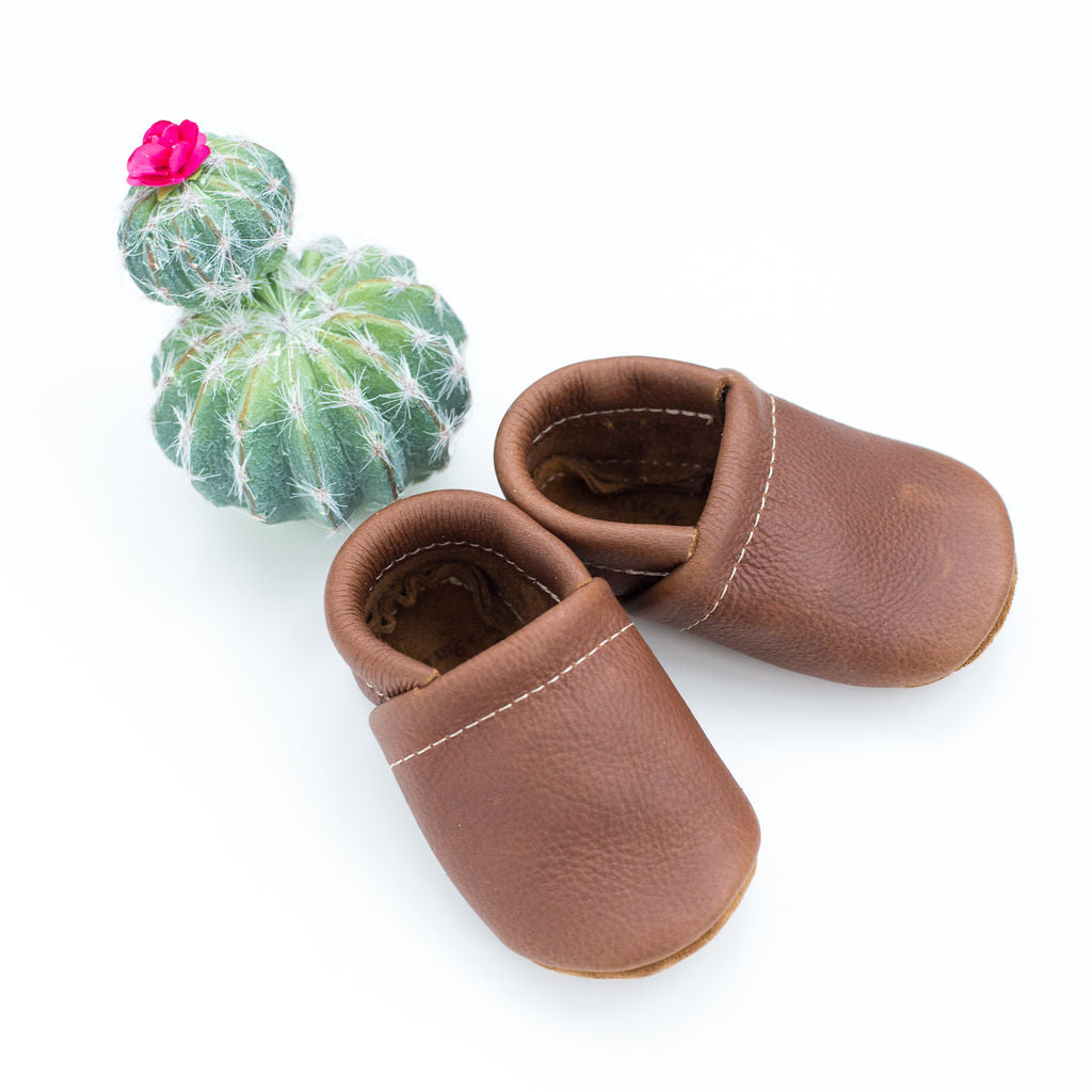 Coffee Leather Loafers Shoes Baby and Toddler
