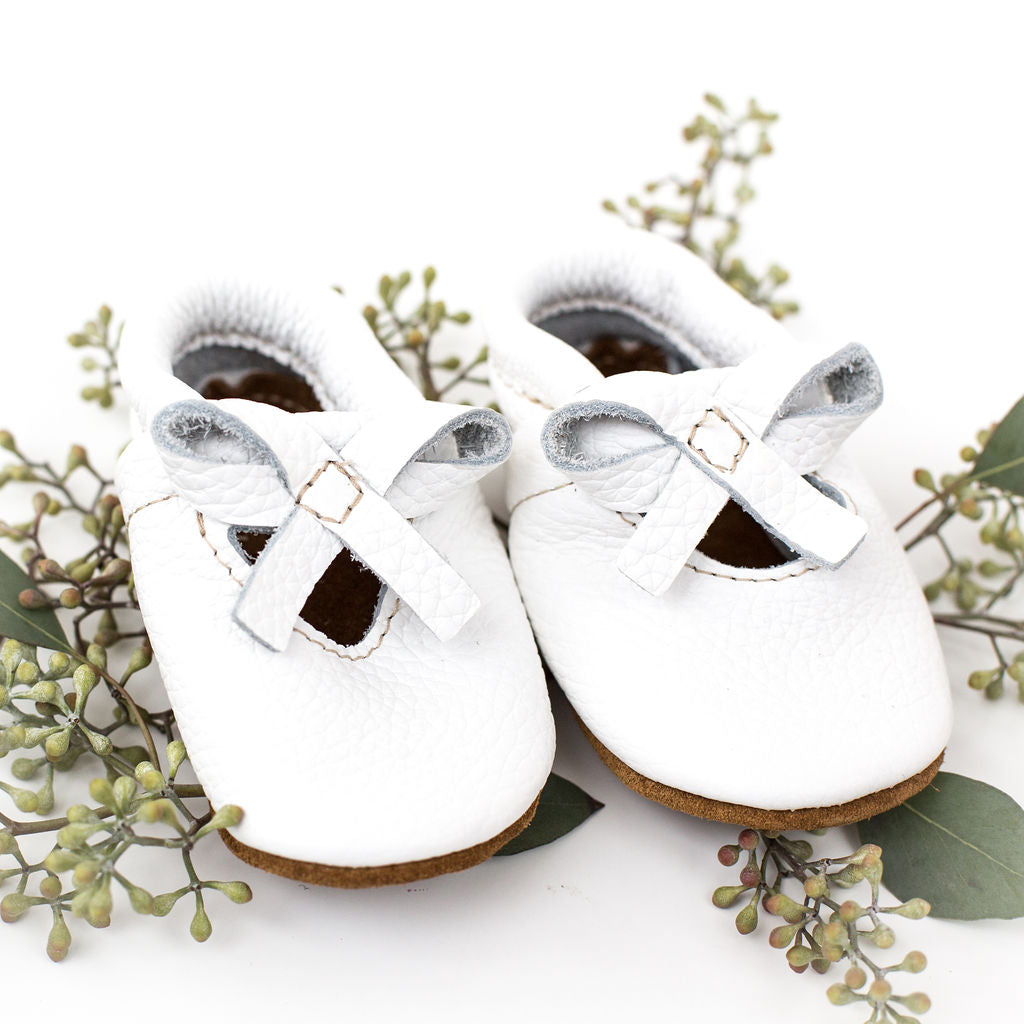 White BALLET BOW FLATS Baby and Toddler