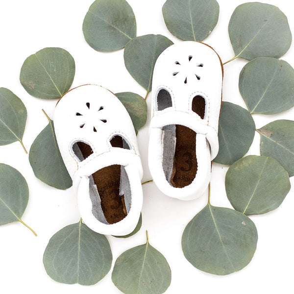 White  T-Strap Shoes Baby and Toddler