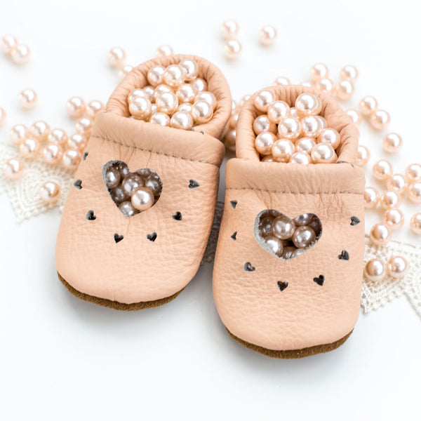 Peach HEART JANES Baby and Toddler