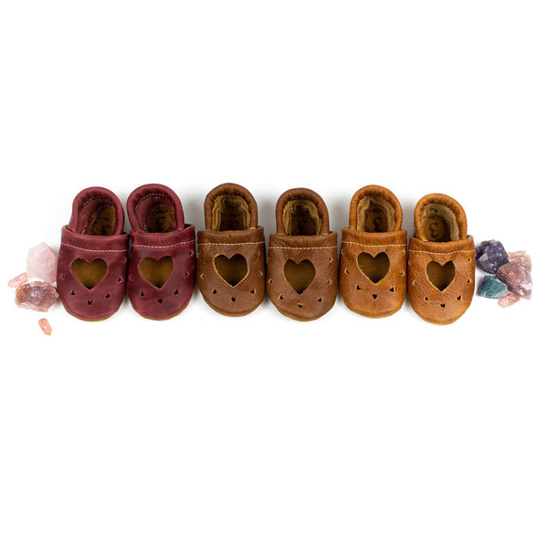 Currant, Cocoa, Pecan HEART JANES Shoes Baby and Toddler
