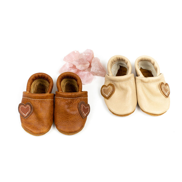 Pecan & Barley Heart Loafers Shoes Baby and Toddler