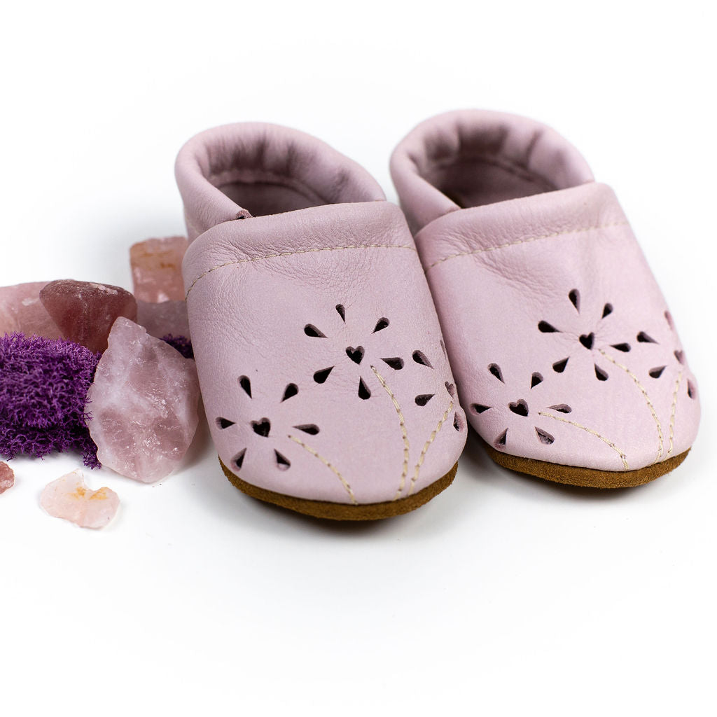 Bubblegum Heart BLOSSOMS Shoes Baby and Toddler