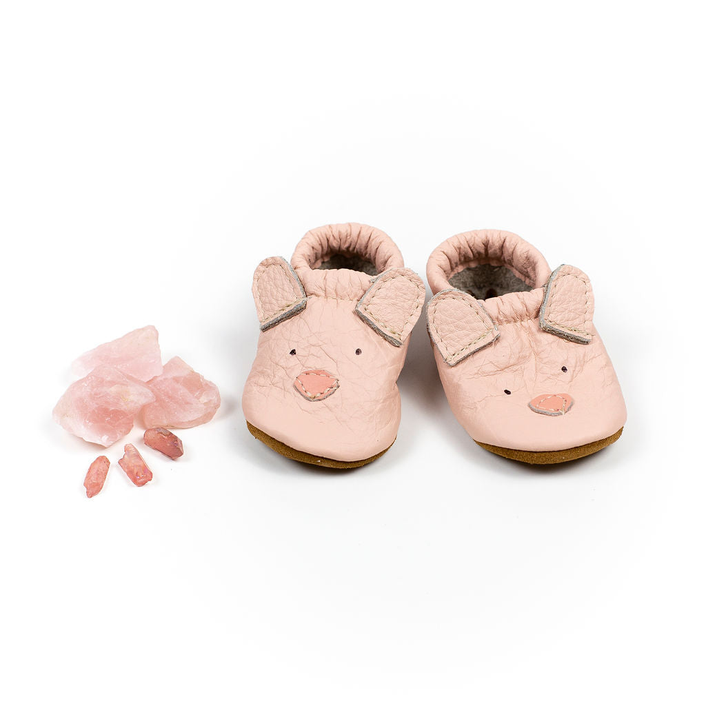 Pink Bear // Cute Critters Leather Shoes Baby and Toddler