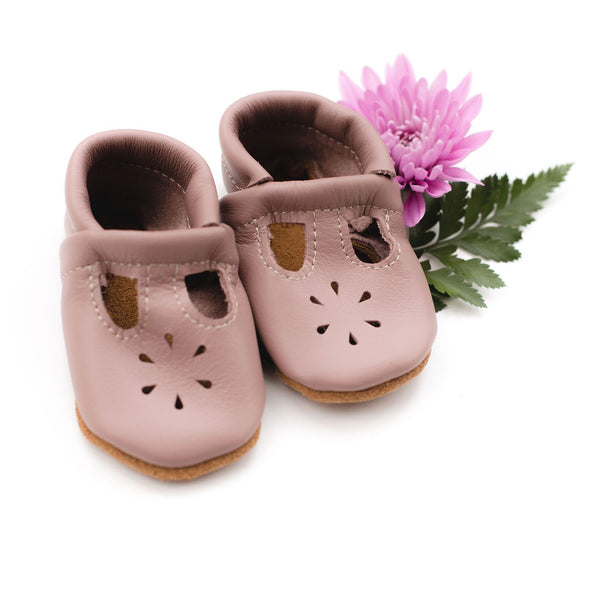 Dusty Rose T-Strap Shoes Baby and Toddler