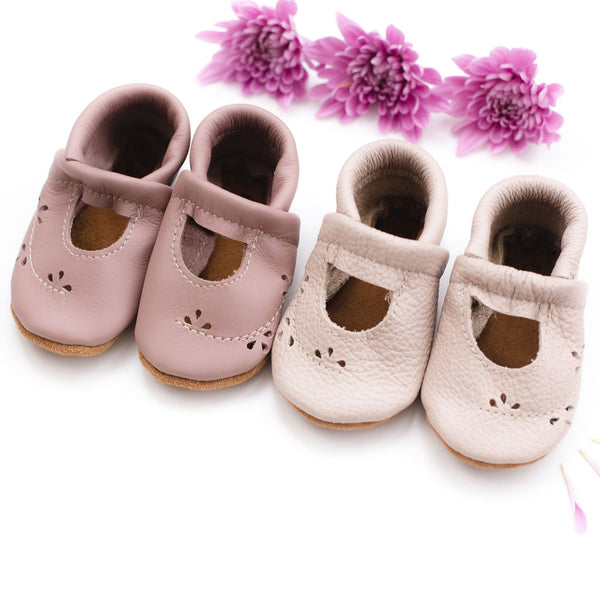 Dusty Rose & Oyster Pink Ivy Janes Shoes Baby and Toddler
