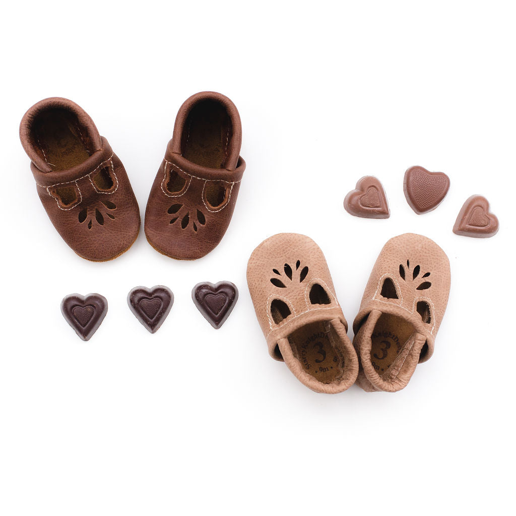 Rust & W. Wood LOTUS T-strap Shoes Baby and Toddler