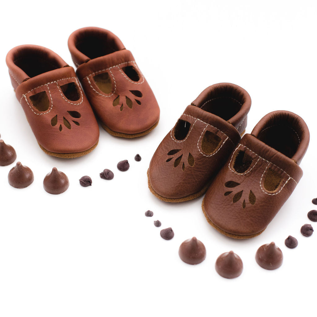 Cedar & Coffee LOTUS T-strap Shoes Baby and Toddler