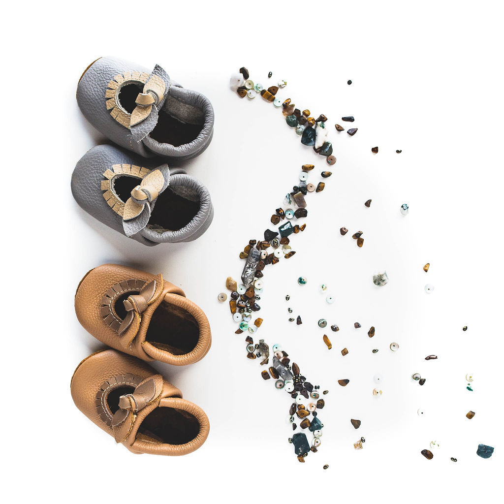 Smoky & Oat BOW Mary Jane MOCCS Baby and Toddler