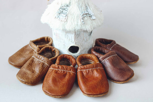 Cocoa, Pecan, Ginger Leather Loafers Shoes Baby and Toddler