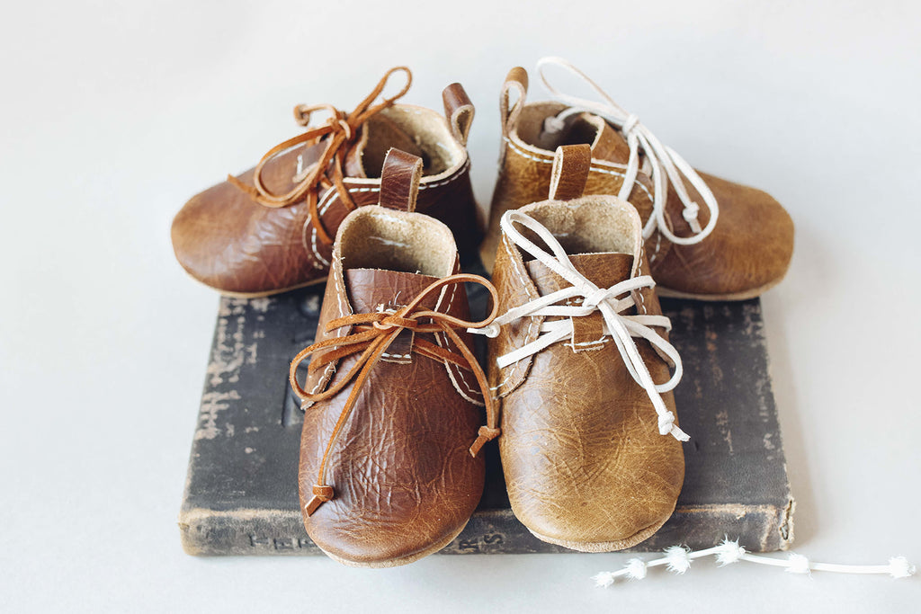 Ginger & Cocoa LACE UP BOOTIES Baby and Toddler