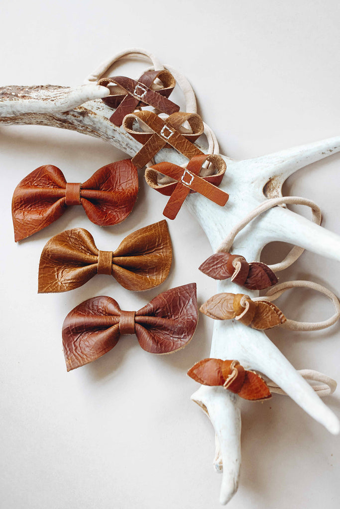 Cocoa, Ginger, Pecan Bows (pick your color,style)