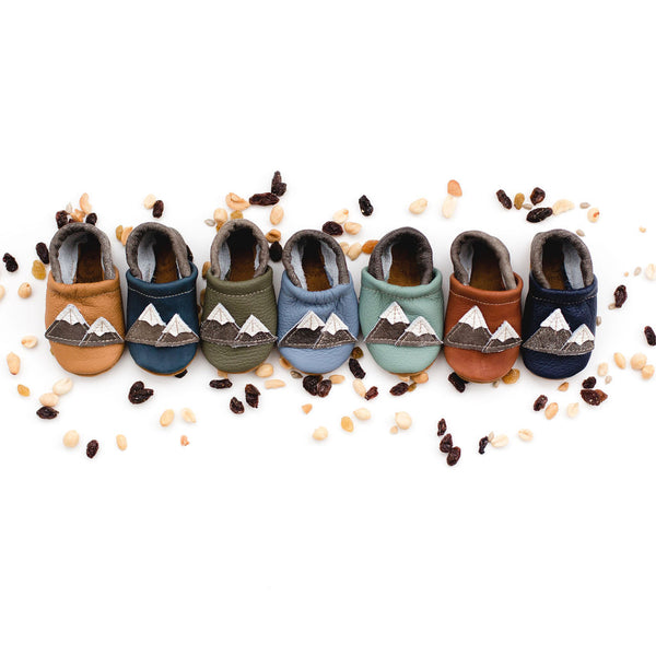 Mountains Leather Shoes Moccs Baby and Toddler