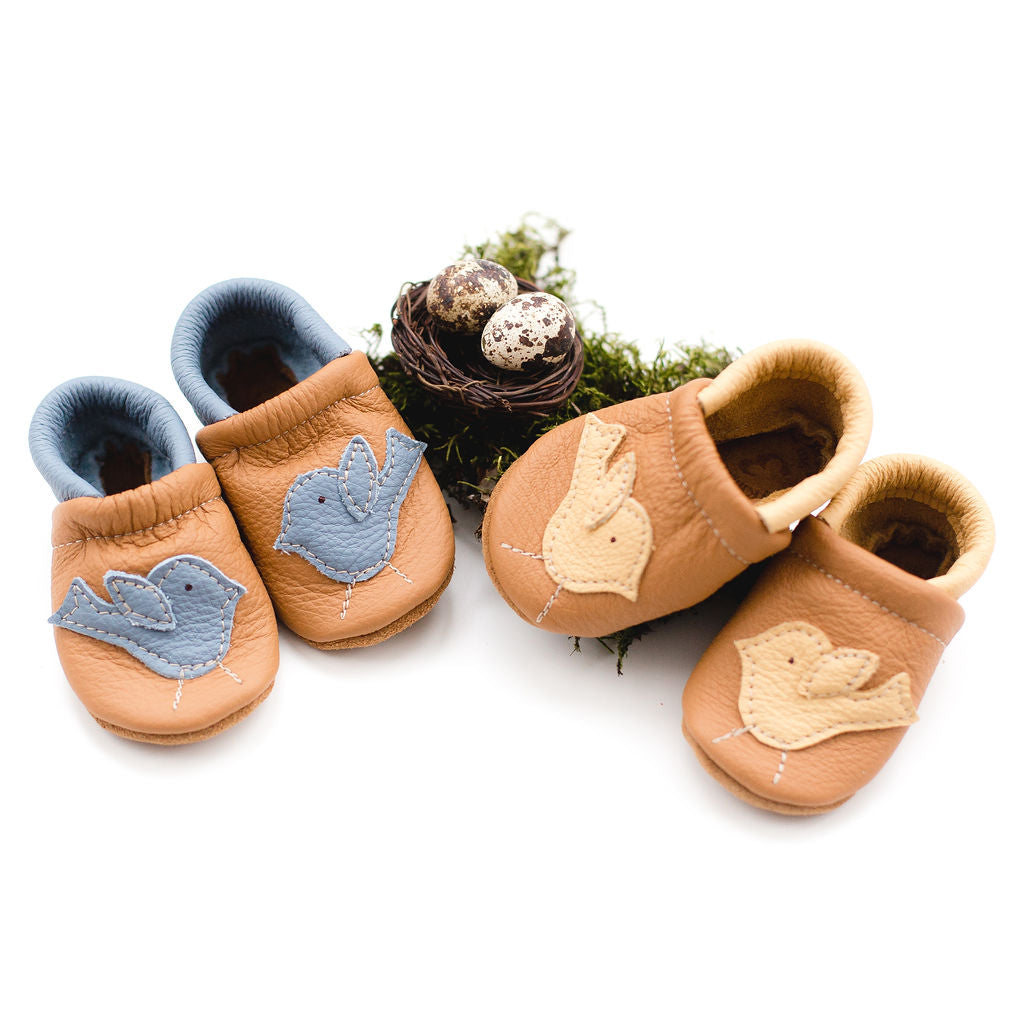 Daffodil Birdie Leather Shoes Moccs Baby and Toddler