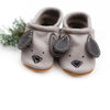 Doggies Gray // Cute Critters Leather Shoes Baby and Toddler Dogs Dog