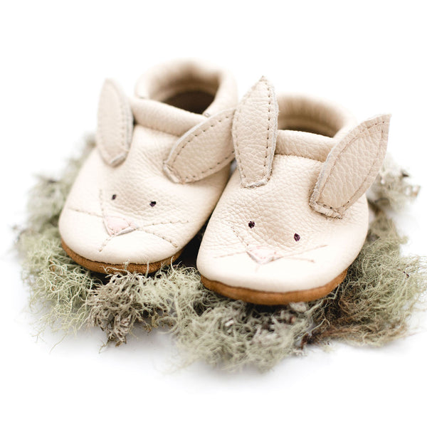 Bunnies // Cute Critters Leather Shoes Baby and Toddler Bunny