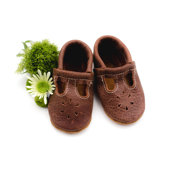 Rust T-Strap Shoes Baby and Toddler