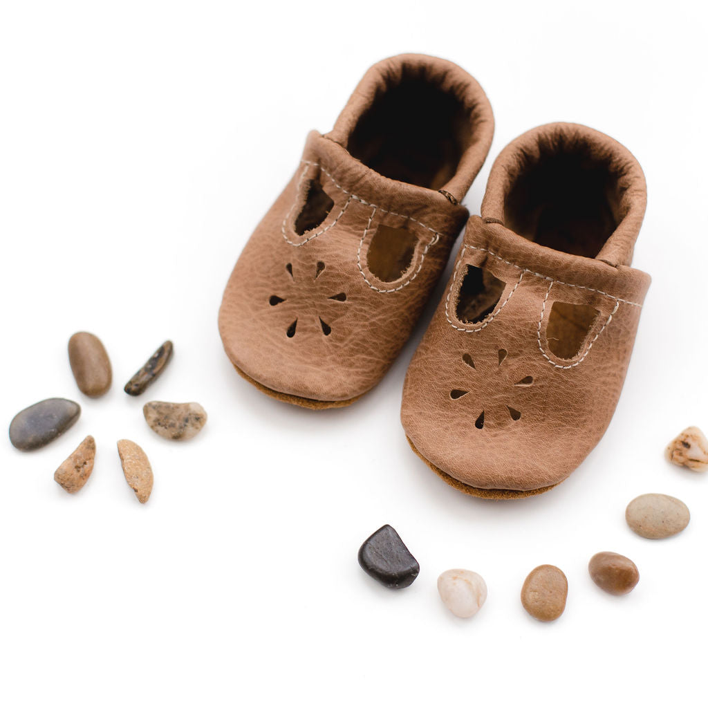 Weathered Wood T-Strap Shoes Baby and Toddler