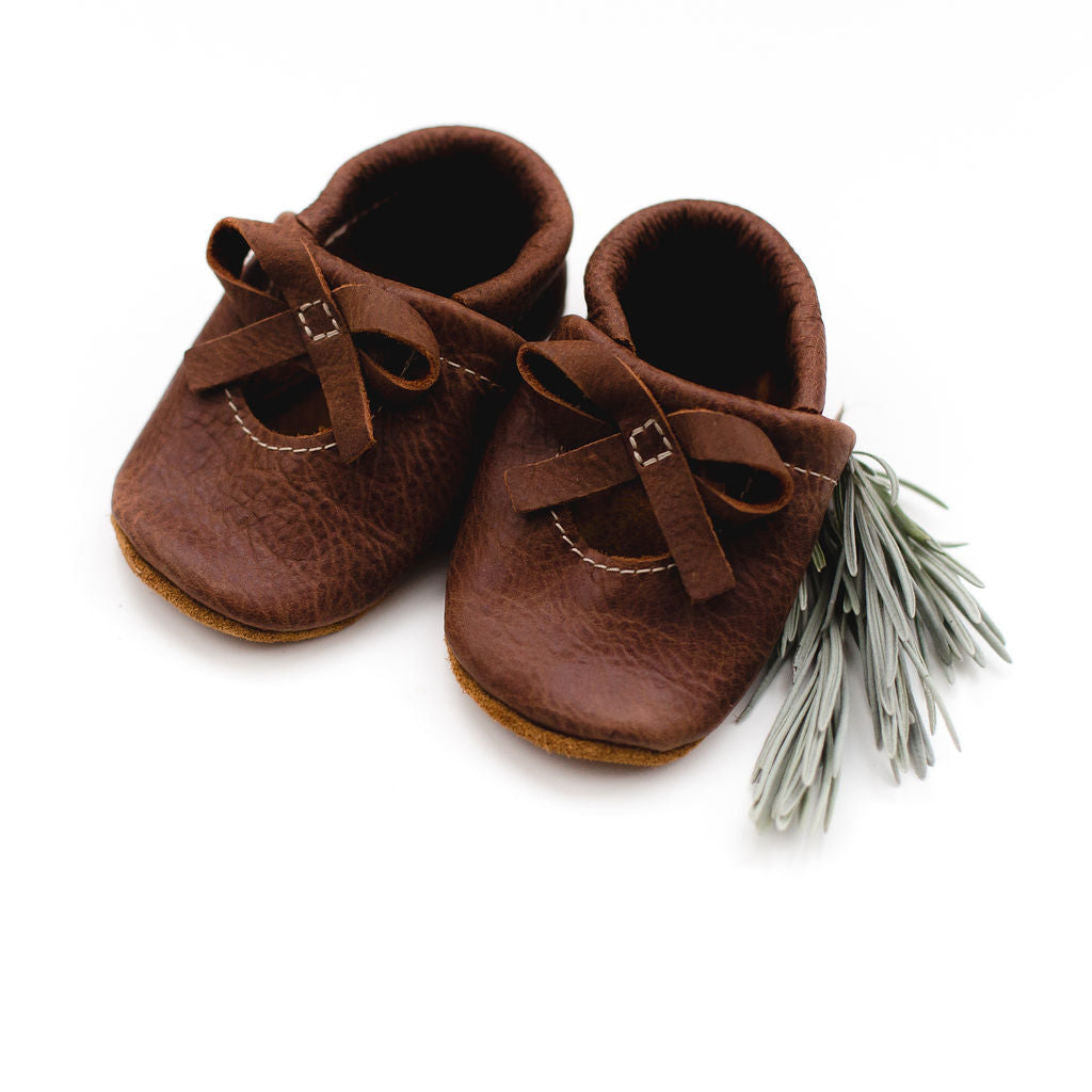 Rust BALLET BOW FLATS Baby and Toddler