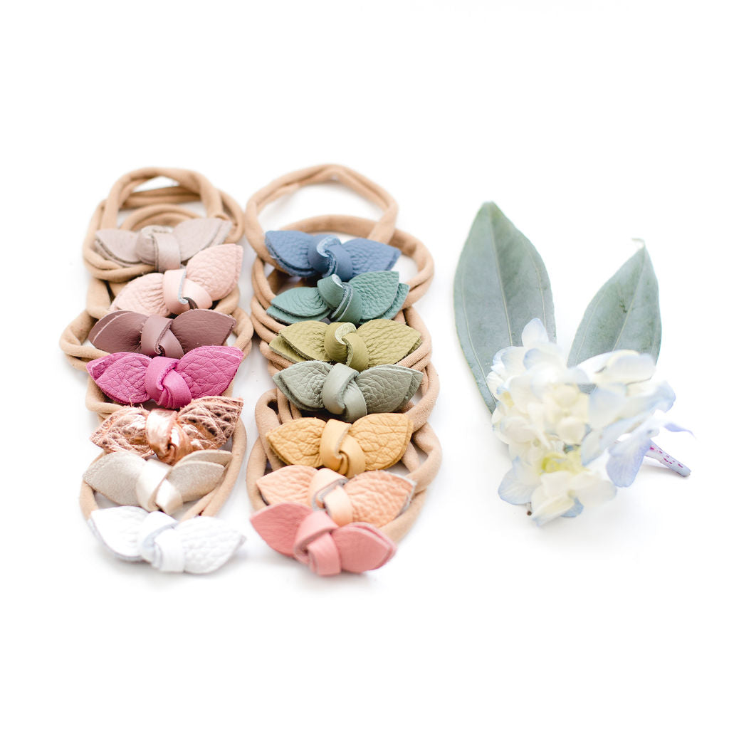Spring Colors Knotted Bow Headbands// Pick Your Color